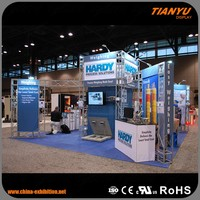 Aluminum stage truss trade show booth for tradeshow and exhibition