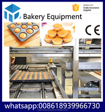 HYPXPD-800 tudan gas rotary oven in food processing automatic cake making machine cake baking oven