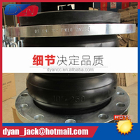 casting flange Double Sphere pvc pipe fittings with rubber joint Oil resistant