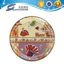 high quality Thanksgiving turkey design plastic serving tray