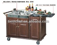 Royal abalone cooking trolley