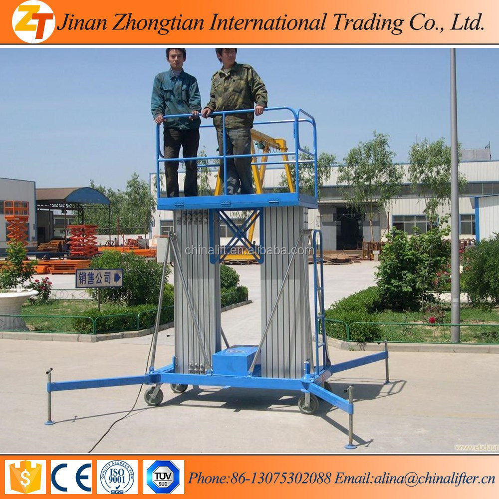 2016 Hydraulic telescopic ladder lift man lift vertical electric single dual mast ladder