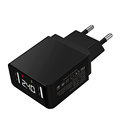 New Arrival USB Wall Charger 2.4A 12W High Quality Dual USB Travel Digital LED Display Chagrer