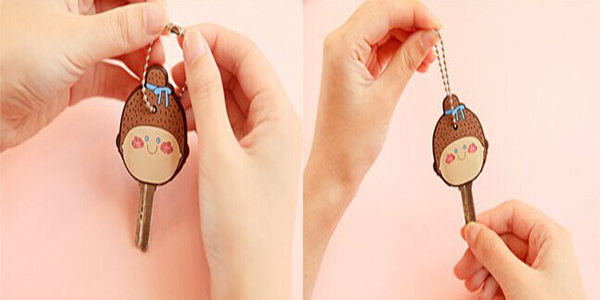 high quality wholesale cute cartoon 3D silicone key cap/silicone key cover ,silicone key chains
