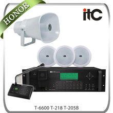 ITC T-6600 8 Inputs 16 Outputs Background Music and Voice Evacuation Public Address System