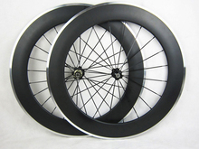 80mm aluminum brake surface clincher wheels road carbon alloy wheelset 20.5/25mm width