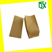 Greaseproof Biodegradable Small Kraft Paper Bag for Food China ssupplier