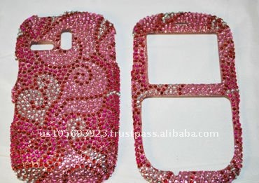 Crystal Cubics Phone Case for Samsung Freeform link/R350/R351 brand new Crystal Bling Snap on Faceplate Cover Case