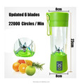 Portable 6 Blades in 3D Juicer Cup Updated Version Rechargeable Juice Blender Magnetic Secure Switch Electric Fruit Mixer