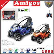 newest 1:10 4 channel motrocycle with charger and battery orange/blue rc motorcycle toy for child