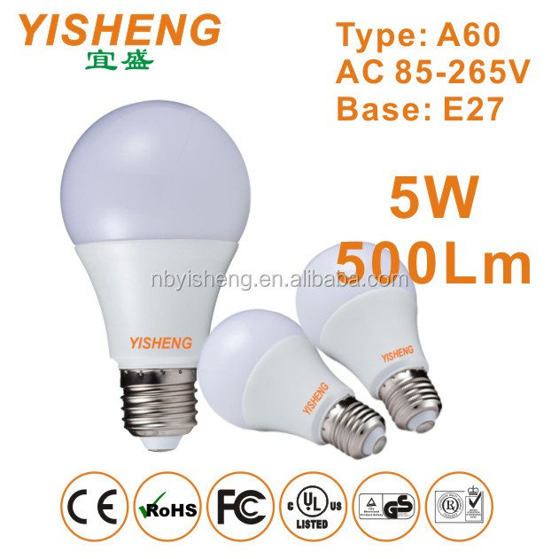 China Supplier 3 Years Warranty CE ROHS EMC 3W 5W 7W 9W 12W 15W 18W 20W A19 A60 A80 A95 Epistar SMD2835 E14 E27 LED Light Bulb