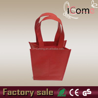 Customized 2 bottle red non woven wine bag