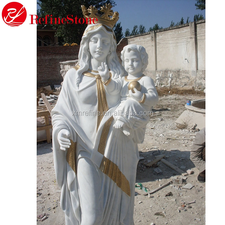 Lady of the grace statue& Mother Mary marble statue