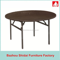 factory wood table top metal legs of Folding Table 45-1