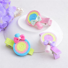 2015 Hot fashion chinese hairpins for kids winky glitter powder lollipops children hairpin wholesale hair accessories AHC0252