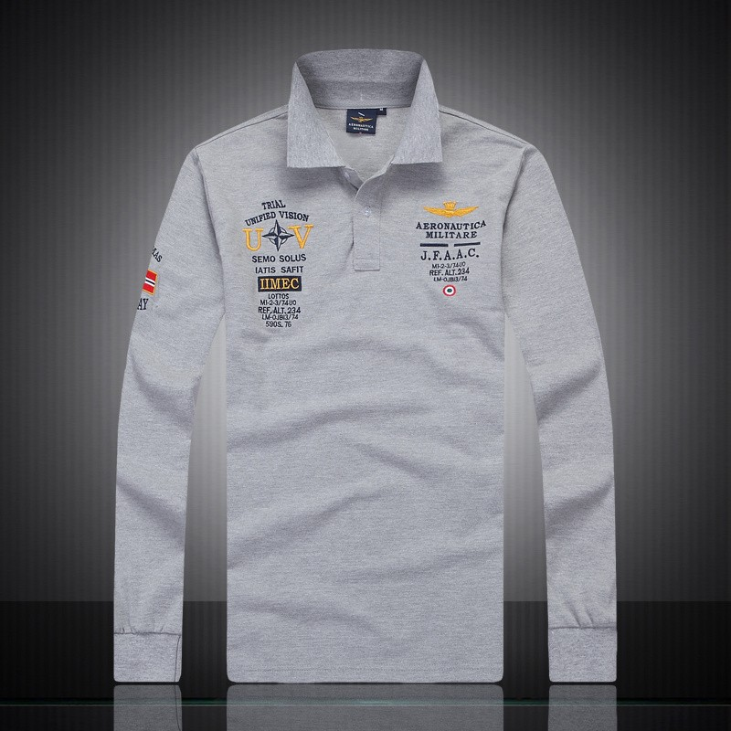 Custom Embroidered Logo Golf Shirt Good Quality Long Sleeve Polo Shirt