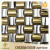 New Pattern Europe Luxury 3D Glass Gold Foil Mix Inox Mosaic Tiles