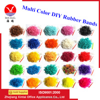 High Quality Colorful Rubber Loom Bands With S-clips for Making DIY