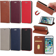 Color blocking with stand leather phone case for iphone 7