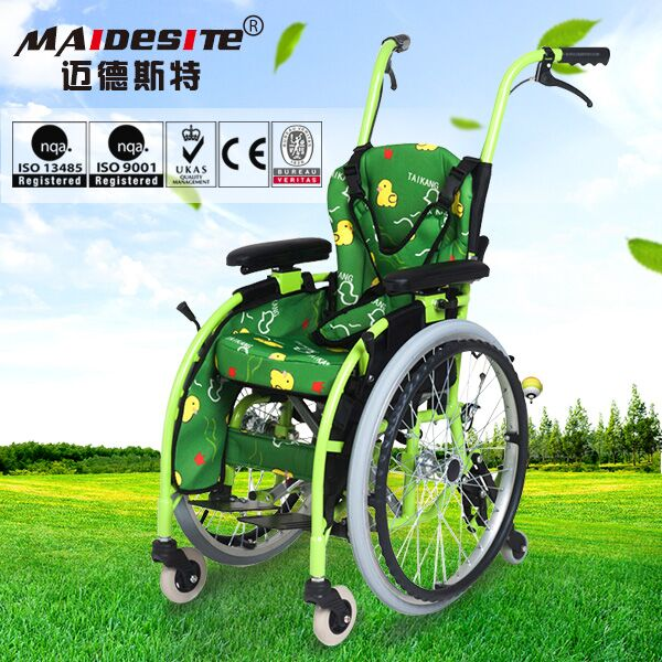 Alibaba cheap price manual trolley baby wheelchair for sale