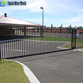 Easy Installed Spear Top Tubular Steel Fence And Gates Designs For Australia With Rails and Picket