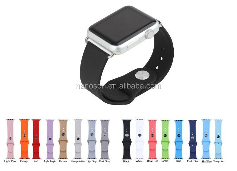 Competitive Price Genuine Leather silicone student Smart Watch strap Band For Men