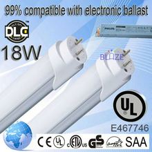 99% compatible with electronic ballasts 2foot chines sex red tube t8 9w led tube light set 100-277V UL DLC