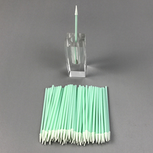 Disposable Lint Free Small Spear Foam Tip Polyurethane Swab for Groove