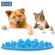 Raised Jungle Soft Silicone Dog Slow Feeder Anti-choking Pet Cat Dish Bowl
