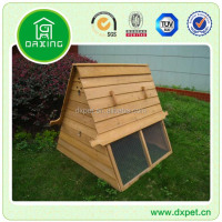 DXH008 easy installed natural color wooden chicken coop
