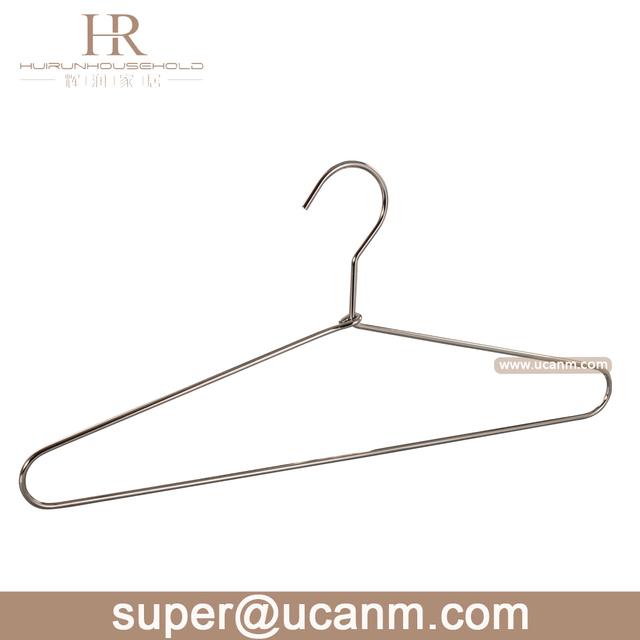 HRC-001antirust chrome plating metal hanger for clothes