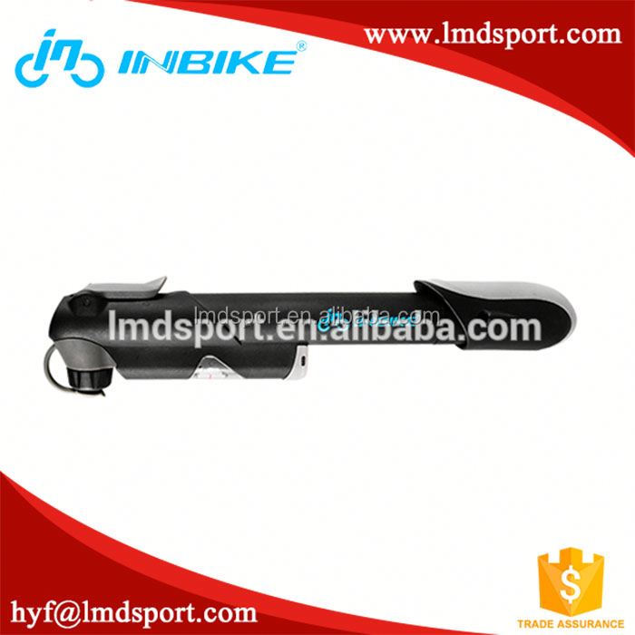 2016 high quality portable 4 color bike hand tire inflator mini bicycle pump