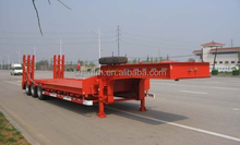 Dongfeng 3 axle low bed trailer for heavy duty high way transportation