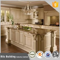 Mediterranean Wooden Kitchen Cabinet style solid wood kitchen cabinet
