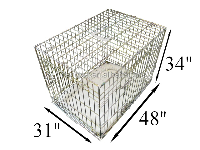 zinc plated color metal Sloping Dog Cage