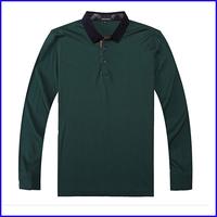 2016 comfortable blank long sleeve men 95% cotton 5% elastane polo t shirt