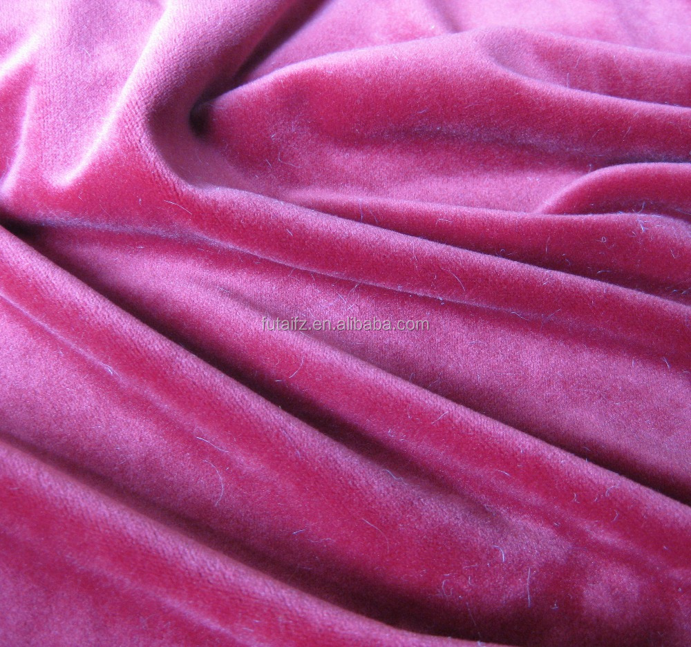 100%Polyester printed tricot Velboa Fabric for garment