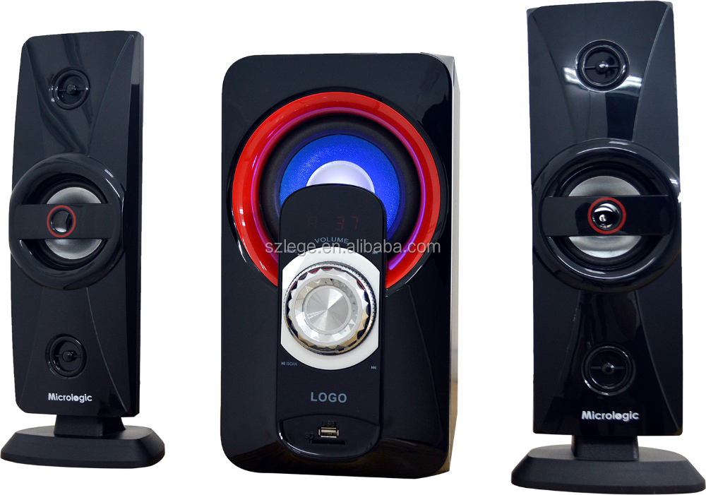 high power 2.1 ch multimedia speaker with wireless bluetooth
