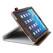 Manufacturer PU Leather Smart Cover Tablet Case for iPad Air 2/6 with Pen Holder
