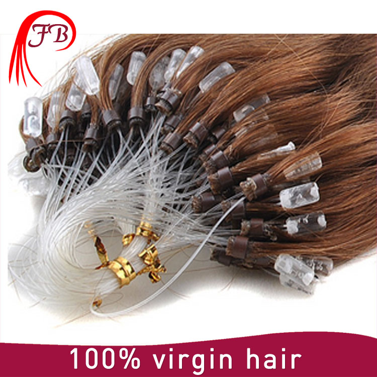 100% Human Unprocessed Tangle Free ring X Remy Brazilian Micro Links Hair extension