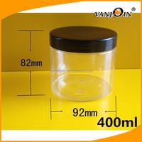 Plastic Transparent Food Grade 1 US Gallon 1000ml 400ml PET Chocolate Jar