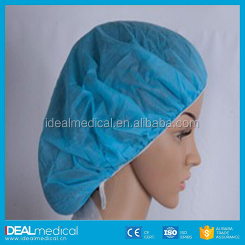 Disposable Head Cover Mob Cap Hat Hair Net Non Woven Anti Dust mob cap