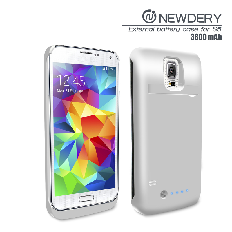 customized package bank charging case cover rechargeable extended battery for galaxy Samsung s5