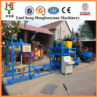 QT4-25 High production Hydraulic press Fully automatic cement concrete brick block making machine