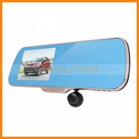 Android System GPS Navigation Dual Lens 1080P 5 Inch Car DVR Rearview Mirror