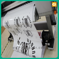High Quality Logo Printing static cling window decal