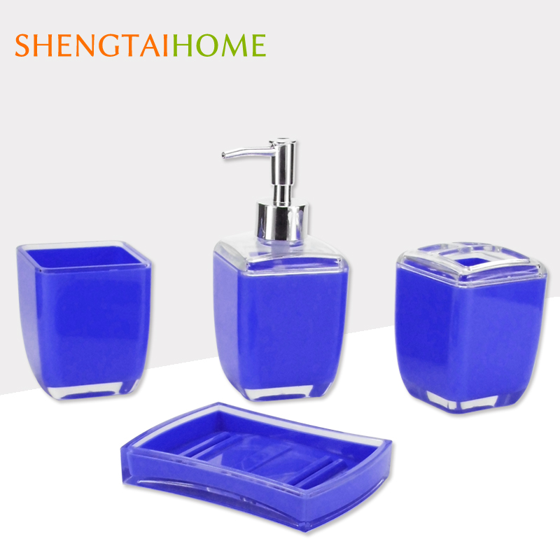 china supplier discount set 4 bathroom sets with lotion bottle