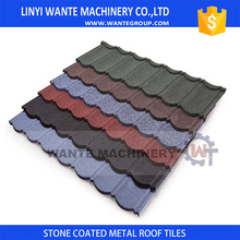 500D UHMWPE string color stone coated metal roof shingles for children