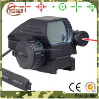 Tactical Holographic Reflex 4 Reticles Red/Green Dot Sight Scope w/Red Laser Sight Hunting Airsoft RifleScope For 20mm Rail Sig