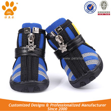 JML Hot sale Fashion Breathable Mesh Fabric Running Dog Boots with Zippers Dog Shoes Booties
